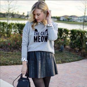 KATE SPADE The cat's meow crewneck sweatshirt